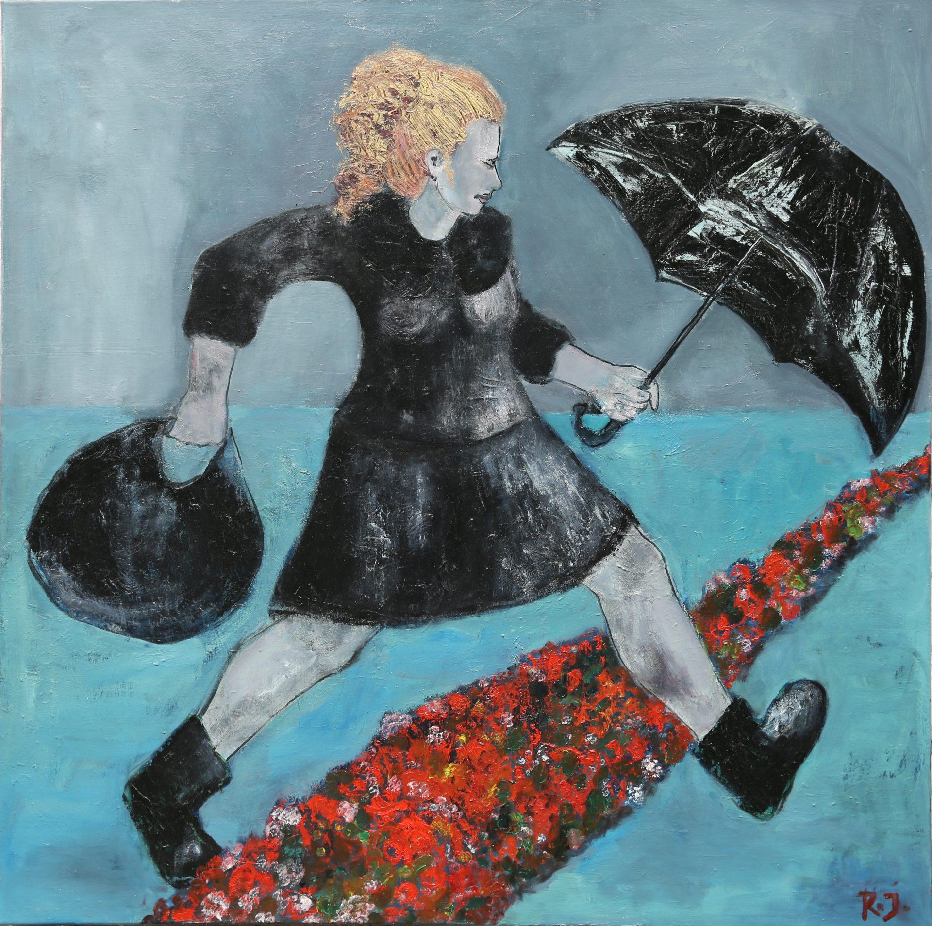 Mary Poppins - Öl auf Leinwand, 100x100 cm