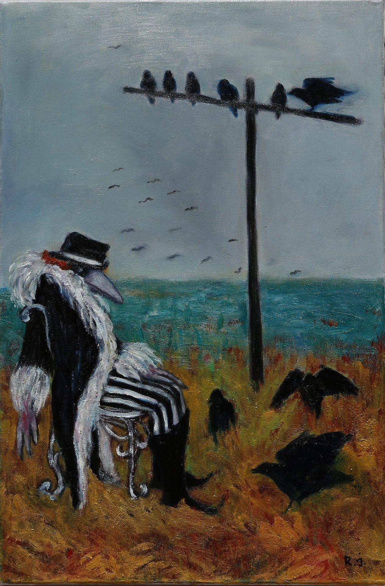 Vogelkönig - Öl auf Leinwand, 60x40 cm