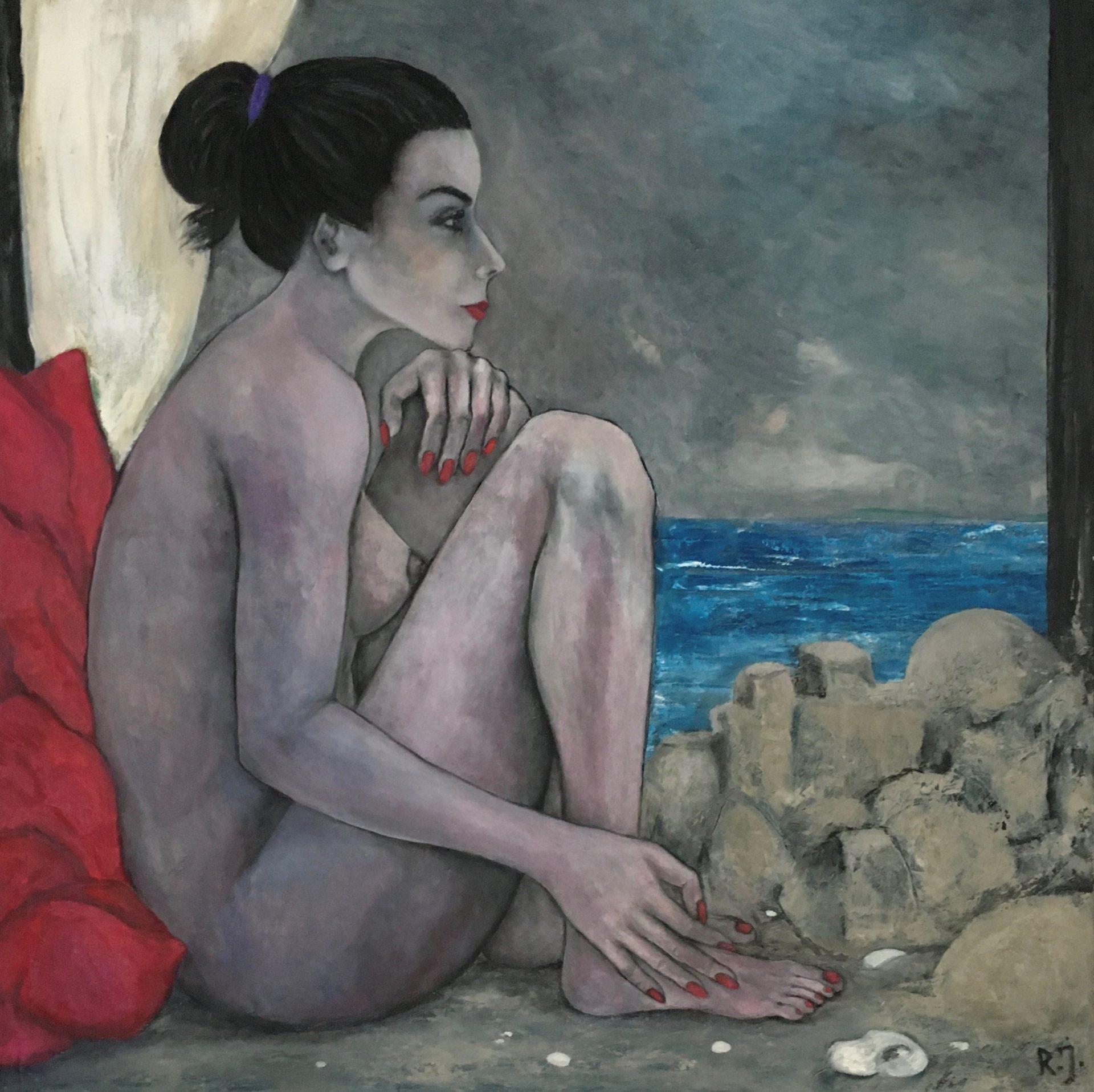 Meerjungfrau - Öl auf Leinwand, 80x80 cm